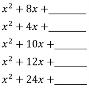 Lesson 12- Completing the Square - Smith Math help